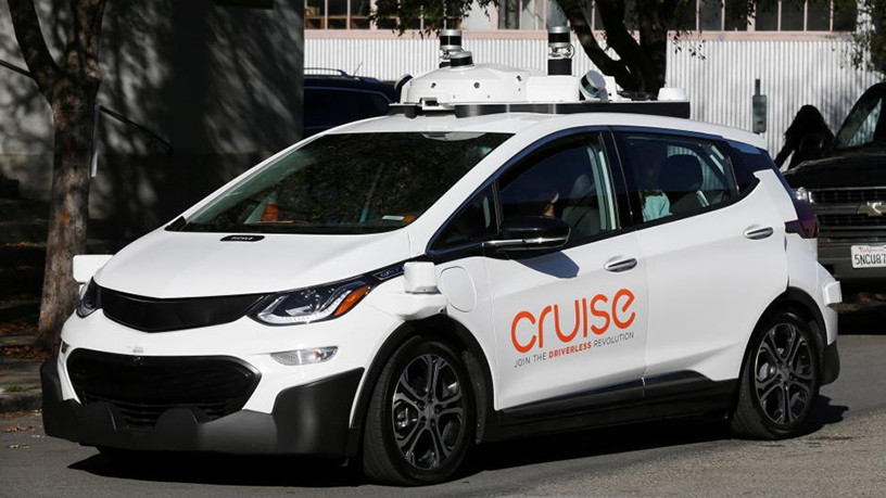 A self-driving GM Bolt electric vehicle.