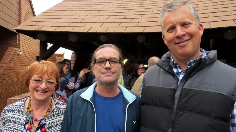From left to right: Susan Van Zyl; Barry MacDougall; Mike Richards at JMR Software Year End Function.
