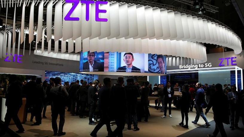 ZTE's booth at Mobile World Congress in Barcelona.