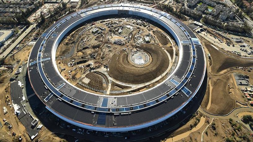 The Apple Campus 2 under construction in Cupertino, California.