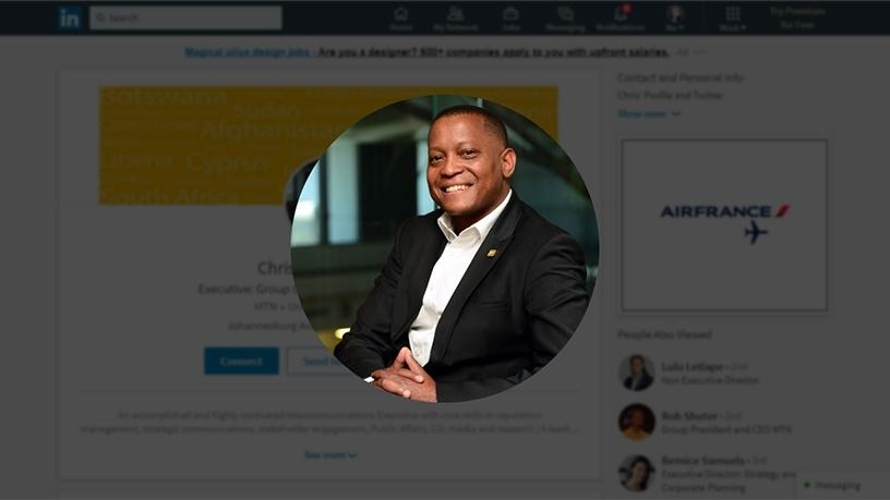 Chris Maroleng was executive for group corporate affairs at MTN. (Photograph from LinkedIn)