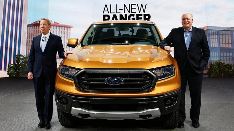 Bill Ford, executive chairman of Ford, and Jim Hackett, president and CEO.