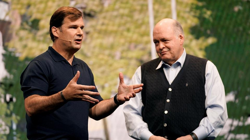 President of Global Markets Jim Farley with Jim Hackett, CEO of Ford.