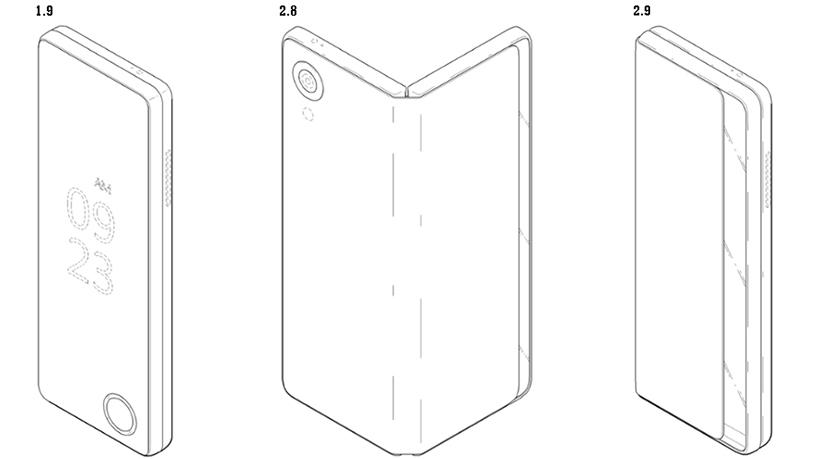 The patent filed by LG for a smartphone that folds out into a tablet.