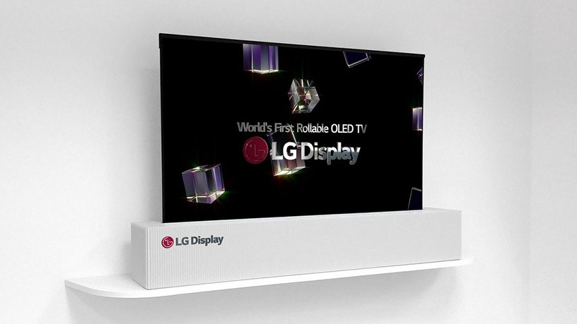 LG's 65-inch UHD rollable OLED display.