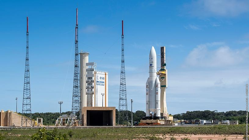 The Ariane 5 ahead of the launch.