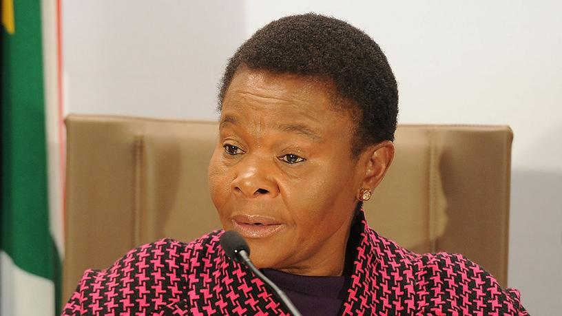Minister Susan Shabangu's social development department oversees the South African Social Security Agency.