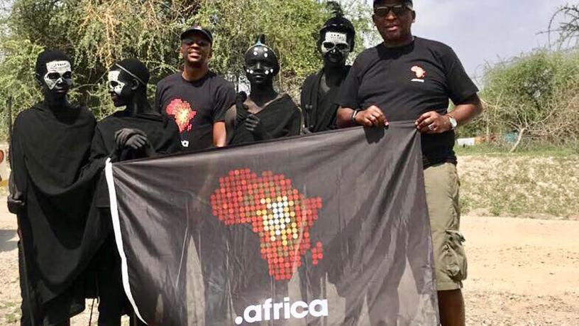 """The .africa team in Uganda embarking on a journey to """"domain the un-domained""""."""