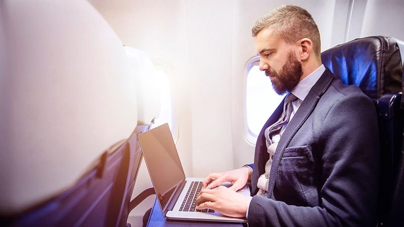 Nearly half of all available seat miles worldwide now offer a chance of WiFi.