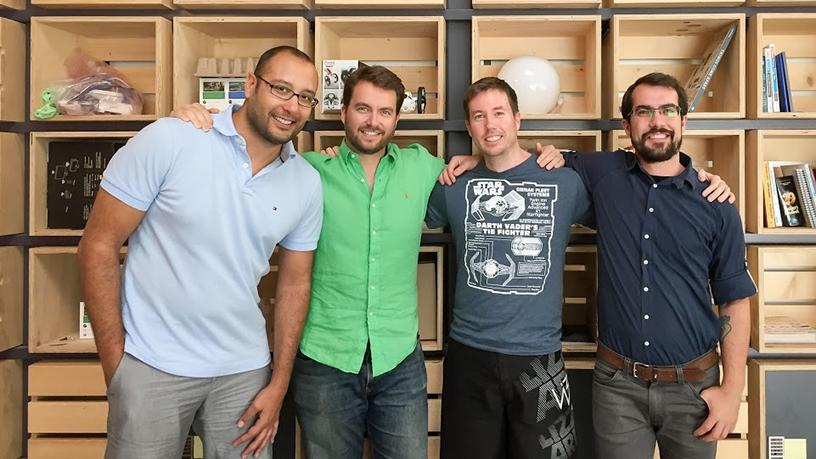 Cape Networks' founding team, from left: Fouad Zreik, David Wilson, Ross Douglas and Michael Champanis.