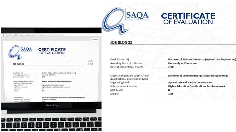 SAQA pilots a digital certificate to enable real-time verification of qualifications.