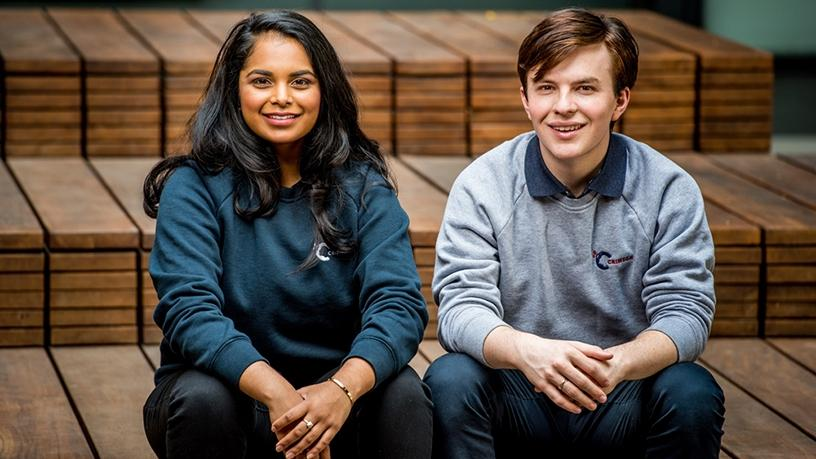 Sharndre Kushor and Jamie Beaton, founders of Crimson Education, which recently launched in SA.