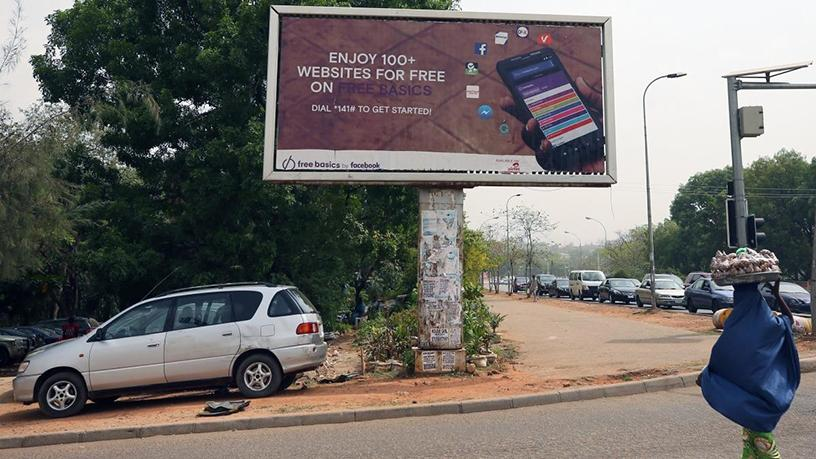 An advert for Facebook's Free Basics in Abuja, Nigeria.