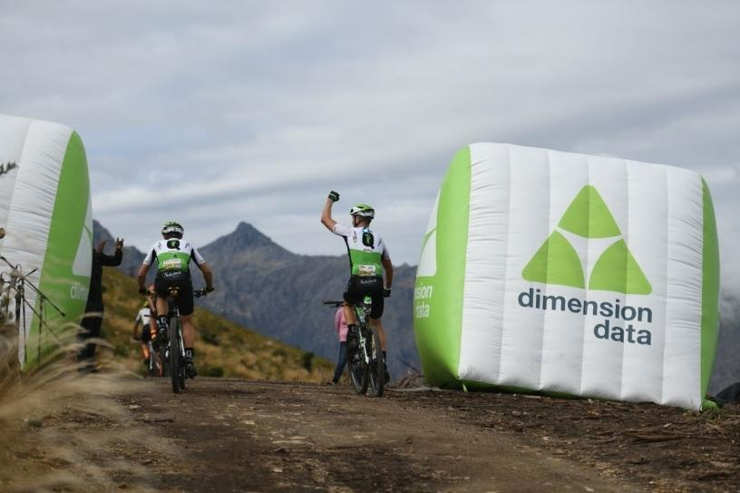 Team Dimension Data during the final stage of the 2018 Absa Cape Epic race.