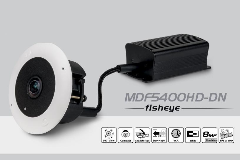 The Dallmeier MDF5400HD-DN Fisheye camera.
