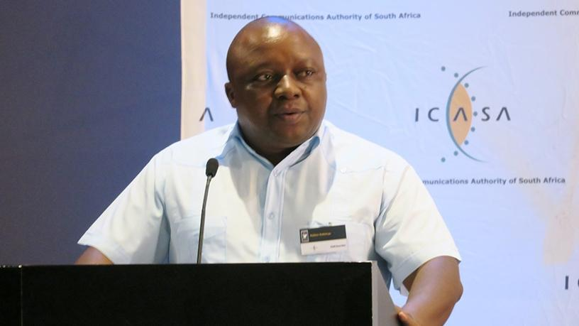Rubben Mohlaloga was found guilty of fraud and money laundering in January. (Photo source: ICASA via Twitter)