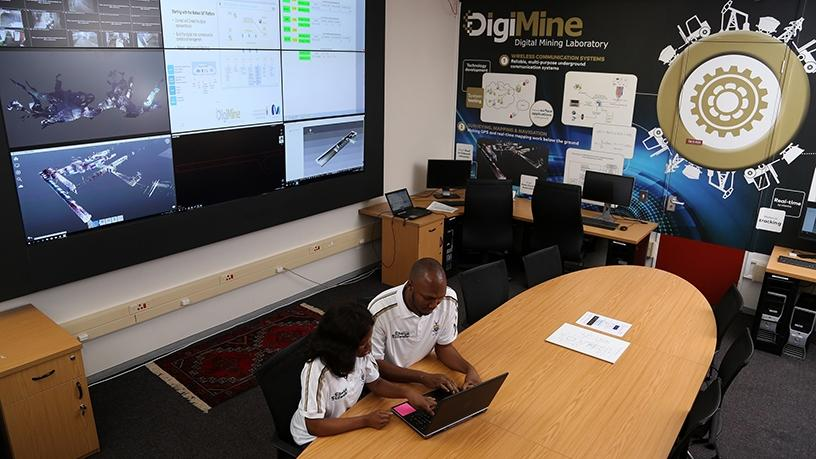 The Wits DigiMine control room.
