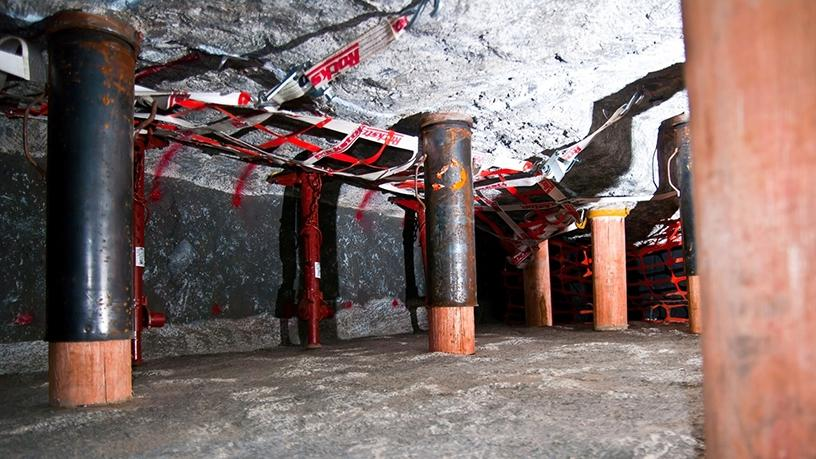 The Wits DigiMine life-size mining stope.