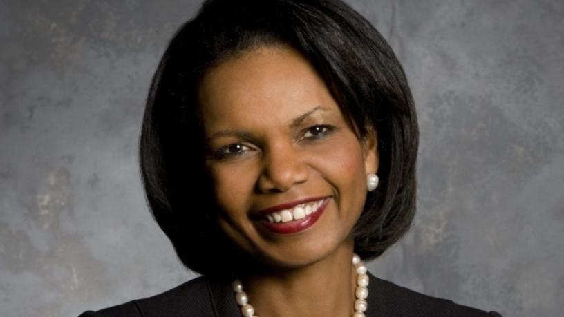 Former US secretary of state Dr Condoleezza Rice.