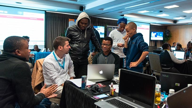 ITWeb's CEO Ivan Regasek was on hand to mentor the young developers.