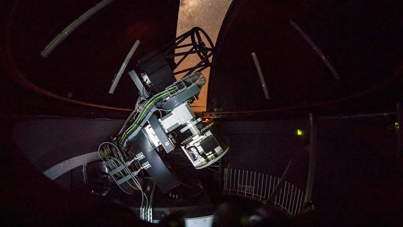 The MeerLICHT telescope will make observations at one of the darkest astronomical sites in the world. (Photo source: SAAO)