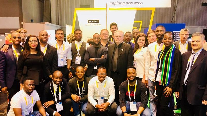 Trade and Industry Minister Rob Davies with a delegation of 13 South African start-up founders at  the VivaTech conference held in Paris last week.