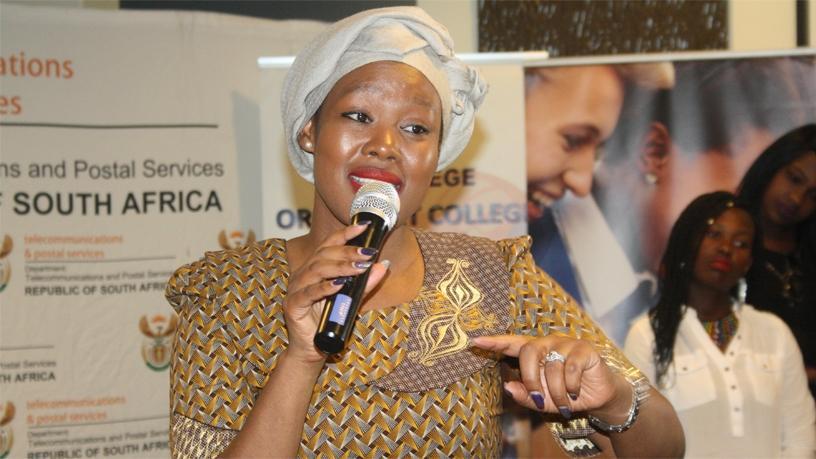 Telecommunications and postal services deputy minister Stella Ndabeni-Abrahams.