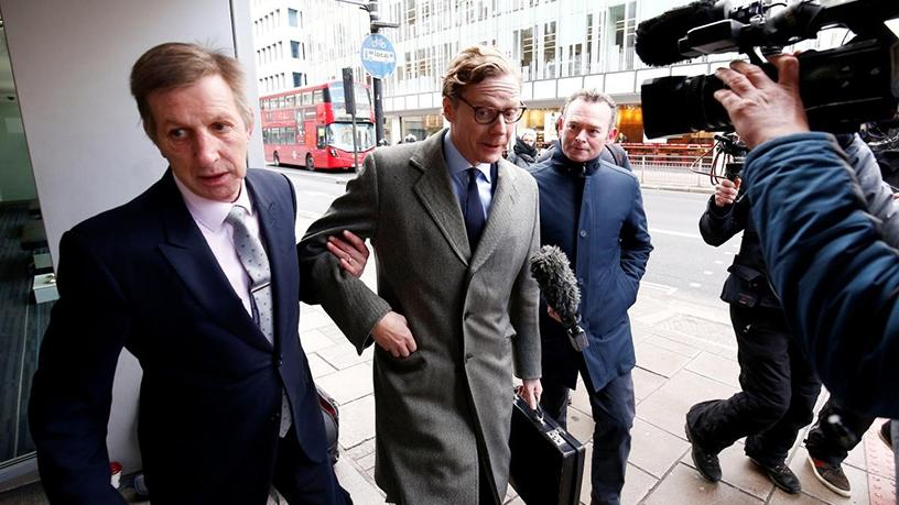 Former head of Cambridge Analytica Alexander Nix (centre).