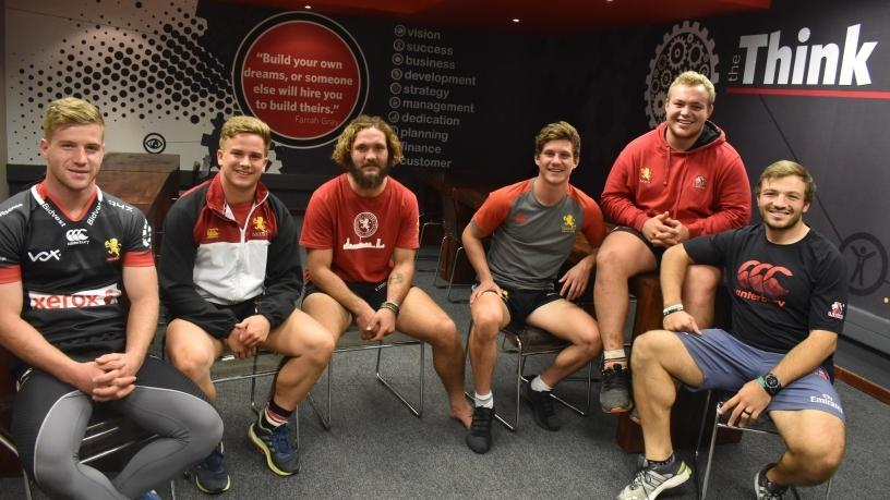 From left to right: Wayne van der Bank, Jeanluc Cilliers, Eddie Fouche, Bradley Thaine, HP van Schoor, Julian Redelinghuys.