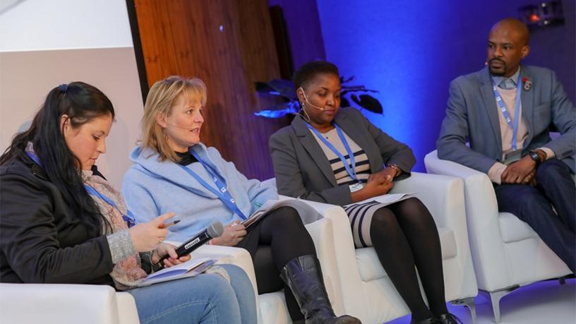 The South African Institute of International Affairs, the Graca Machel Trust, and The Other Foundation sat on a panel moderated by Sam Posselt to talk about how they use social media.