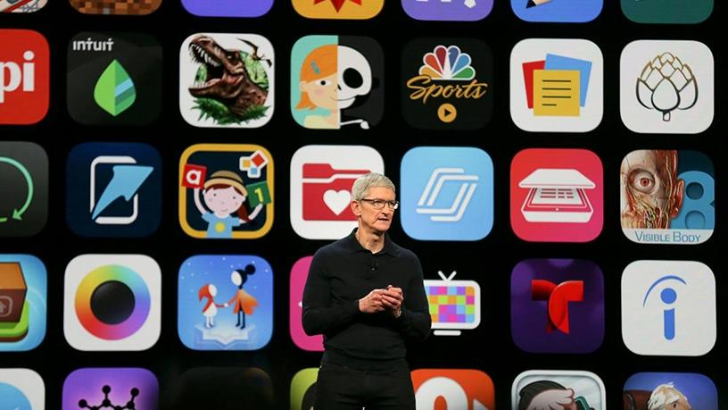 Apple CEO Tim Cook speaks at the Apple Worldwide Developer Conference in California.