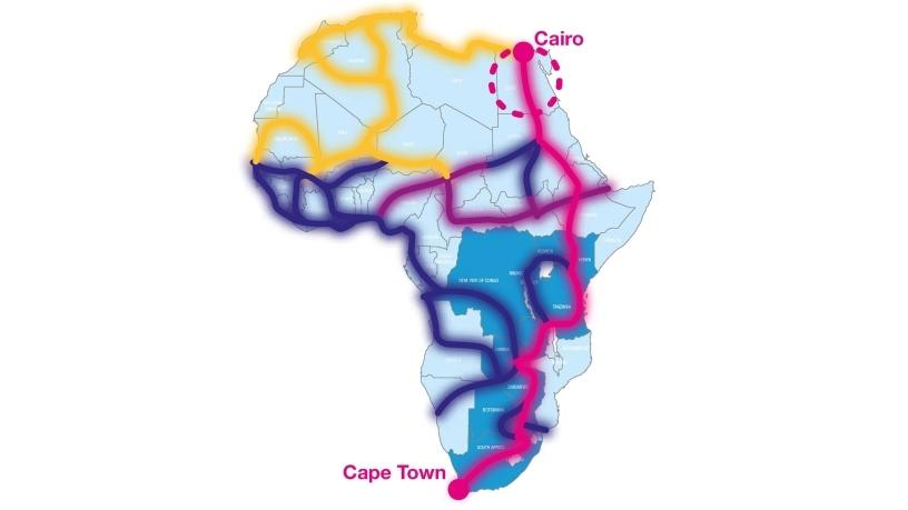 An illustration of how Liquid Telecom will roll out its Cape to Cairo fibre network.