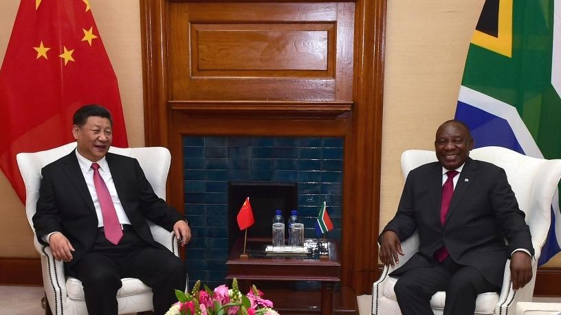 President Cyril Ramaphosa hosted president Xi Jinping of the People's Republic of China.