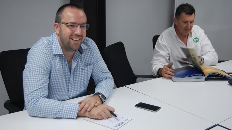 Key Account Manager, Jacques Pienaar and Ron Keschner, Sales Director.