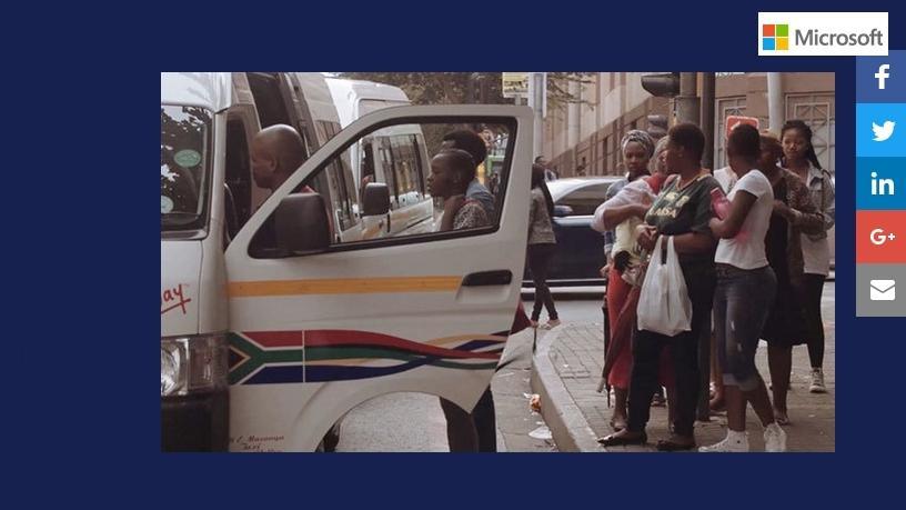 Microsoft Azure technology helps WhereIsMyTransport use big data to improve public transport for commuters across Africa.