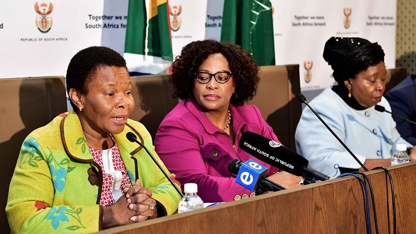 Ministers Susan Shabangu, Nomvula Mokonyane and Nkosazana Dlamini-Zuma are part of the Inter-Ministerial Committee.
