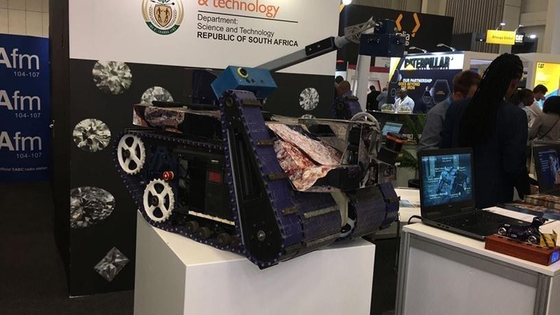 The Monster, a robot developed by the CSIR that aims to assess and identify risks for underground mines.