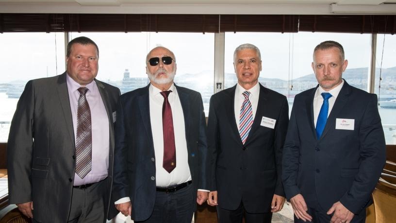 From left: Robert Brown, Panagiotis Kouroumplis, Dionyssus Kalamatianos, Eric Klopper.