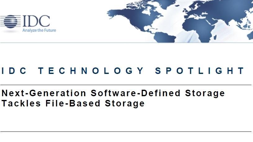 Next-generation software-defined storage tackles file-based storage.