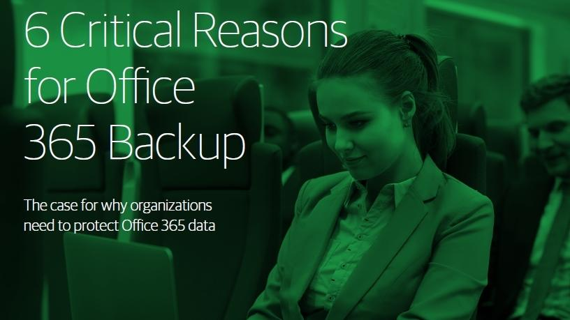 Six reasons to backup Office 365.
