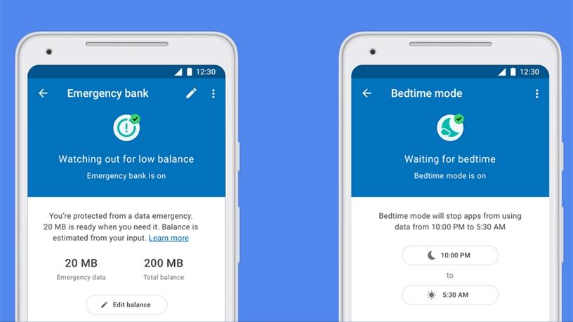 Datally now has an emergency bank of data and a bedtime mode option.
