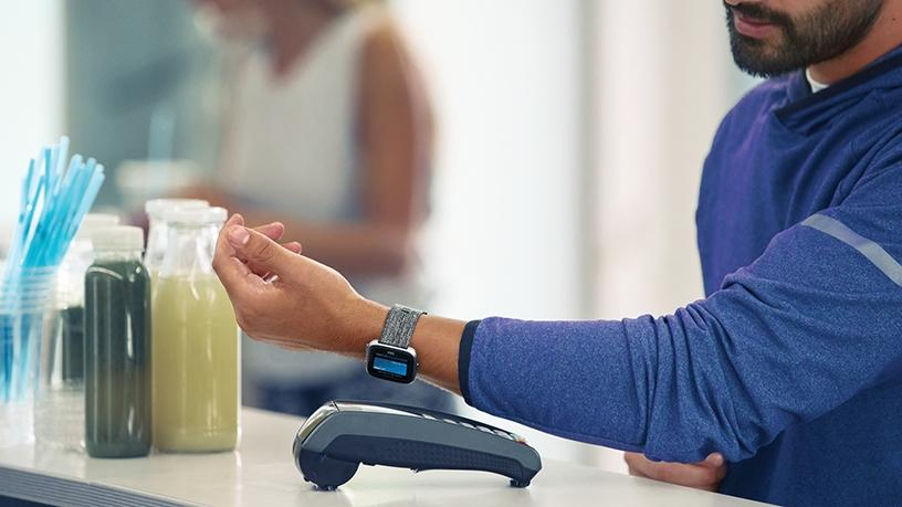 The new tap-and-go feature makes it easy for customers to make payments directly from their wearable devices.