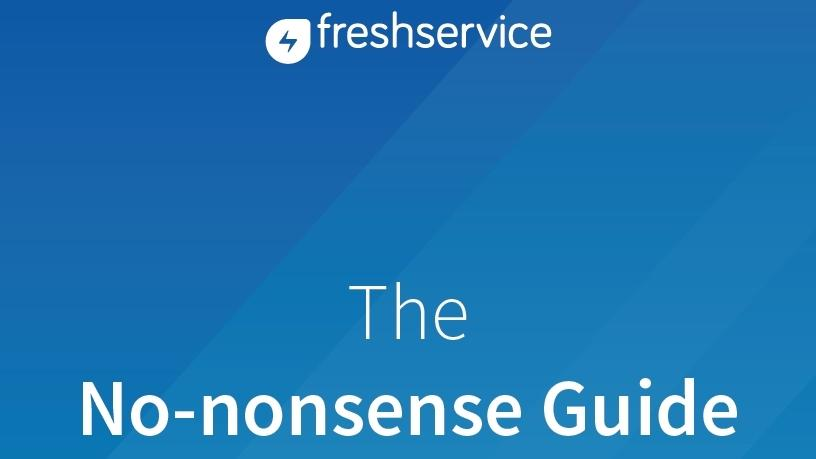 The no-nonsense guide to ITSM.
