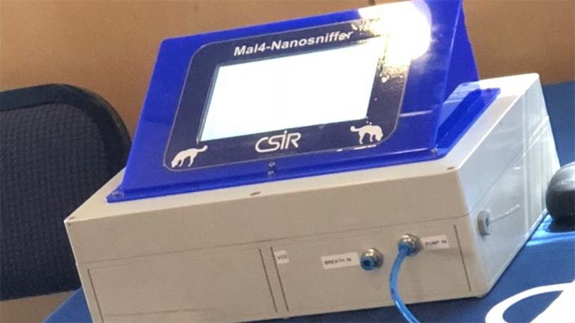 The nanotechnology breathalyser prototype developed at the CSIR for diabetes management.
