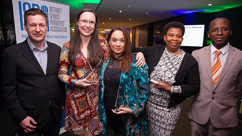 Matema Jacobeth Malatji of Diopong Primary School, Leanne Bishop of Grantleigh College, and Khatija Osman from Durban Girls' College at the 2018 ISPA SuperTeacher of the Year Awards.