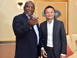 President Cyril Ramaphosa and executive chairman of Alibaba, Jack Ma. (Photo: GCIS)