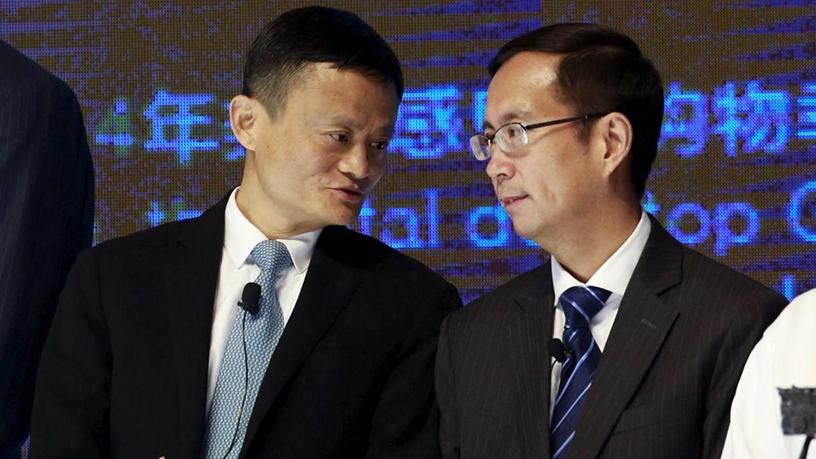 Alibaba founder and chairman Jack Ma and CEO Daniel Zhang.