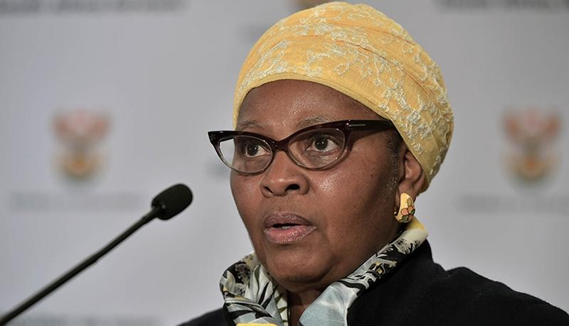 Defence and military veterans minister Nosiviwe Mapisa-Nqakula.