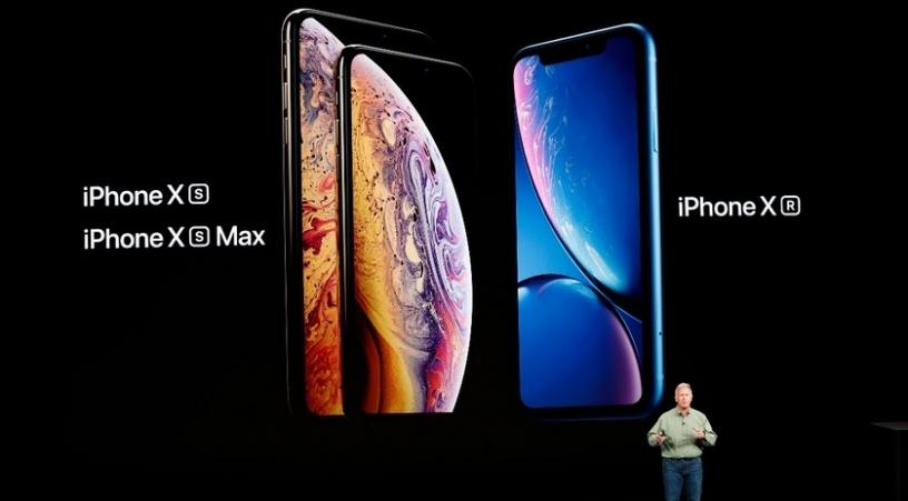 Philip Schiller, senior vice-president for Apple worldwide marketing, speaking at the launch of the new iPhone XS series.