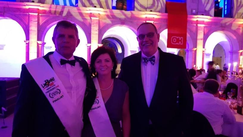 Winners of the OK Foods of the Year store: Christo and Yvette Loots of OK Foods Intermeat with David Geldenhuys from Arch.